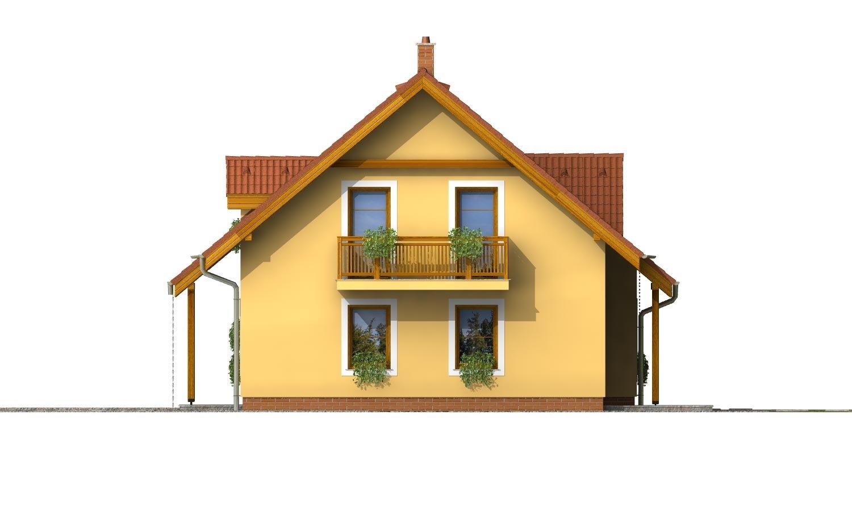 Pohľad 4. - Rodinný dom vhodný na úzky pozemok.