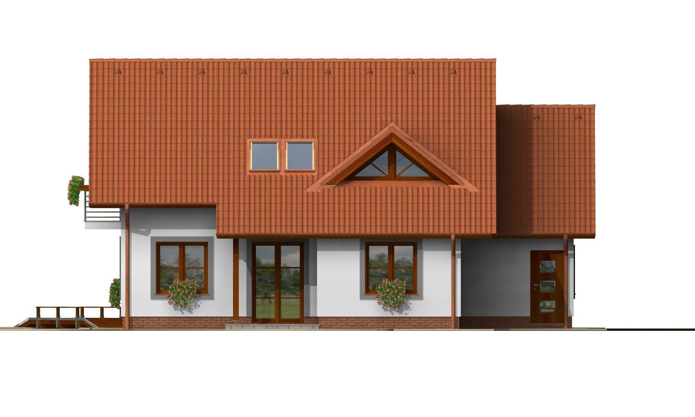 Pohľad 3. - Dom s garážou a izbou na prízemí. Vhodný aj ako dvojdom.