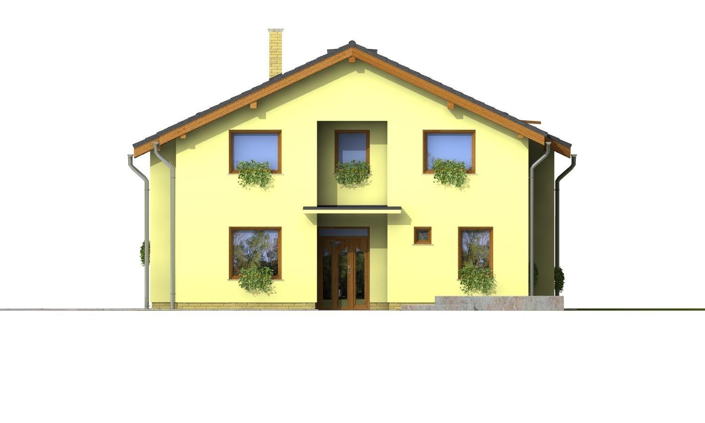 Pohľad 1. - Klasický podkrovný dom so sedlovou strechou
