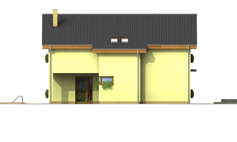 Pohľad 2. - Klasický podkrovný dom so sedlovou strechou