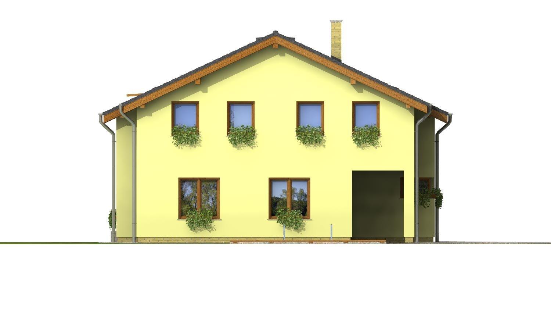 Pohľad 3. - Klasický podkrovný dom so sedlovou strechou