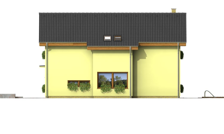 Pohľad 4. - Klasický podkrovný dom so sedlovou strechou