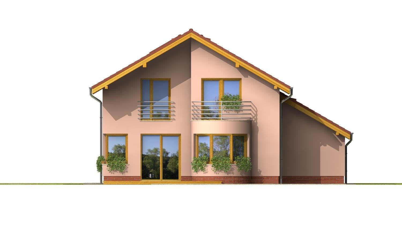Pohľad 3. - Dom s garážou a apsidou v jedálenskom kúte