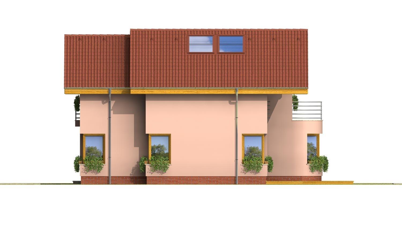 Pohľad 4. - Dom s garážou a apsidou v jedálenskom kúte