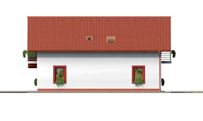 Pohľad 2. - Podkrovný dom s garážou a izbou na prízemí