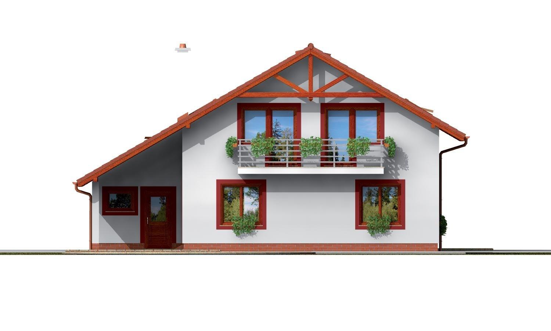 Pohľad 3. - Podkrovný dom s garážou a izbou na prízemí