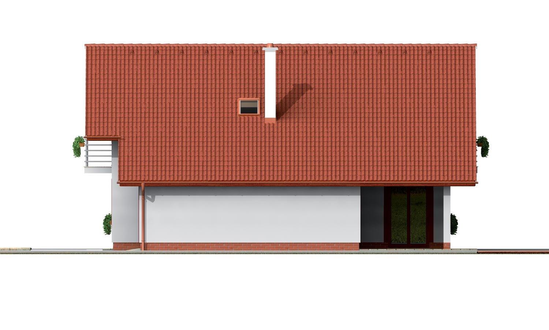 Pohľad 4. - Podkrovný dom s garážou a izbou na prízemí