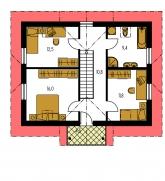 Pôdorys poschodia - KLASSIK 167