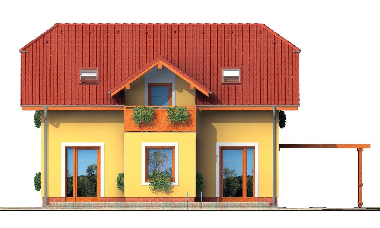 Pohľad 3. - Dom 6-izbový s jednou izbou v prízemí