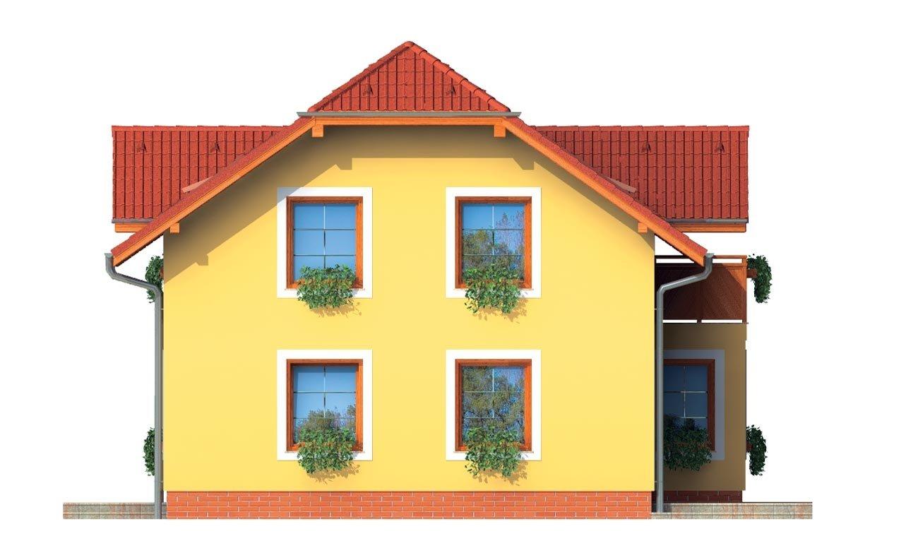 Pohľad 4. - Dom 6-izbový s jednou izbou v prízemí