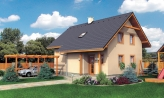 Rodinný dom na úzky pozemok s obytným podkrovím