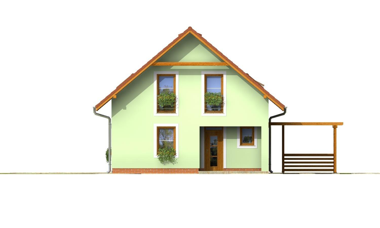 Pohľad 1. - 4-izbový dom na úzky pozemok s obytným podkrovím.