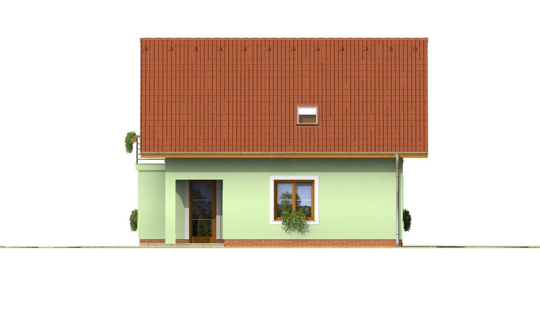 Pohľad 2. - 4-izbový dom na úzky pozemok s obytným podkrovím.