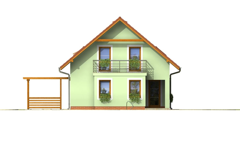 Pohľad 3. - 4-izbový dom na úzky pozemok s obytným podkrovím.