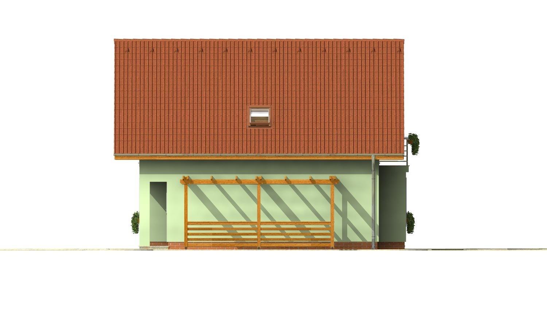 Pohľad 4. - 4-izbový dom na úzky pozemok s obytným podkrovím.