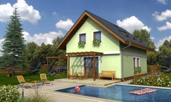 Projekt domu na úzky pozemok s čelným vstupom