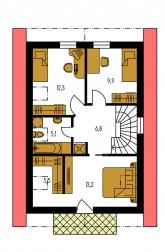 Pôdorys poschodia - KOMPAKT 35