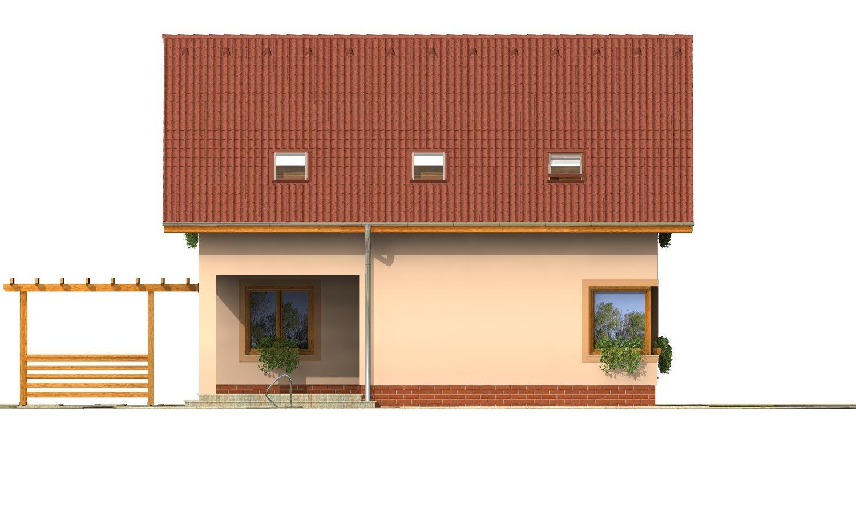 Pohľad 3. - Rodinný dom s izbou na prízemí a obytným podkrovím