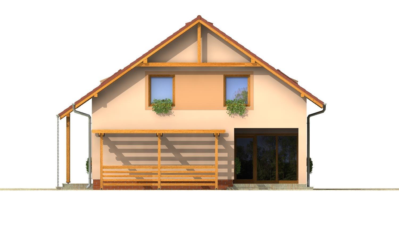 Pohľad 4. - Rodinný dom s izbou na prízemí a obytným podkrovím
