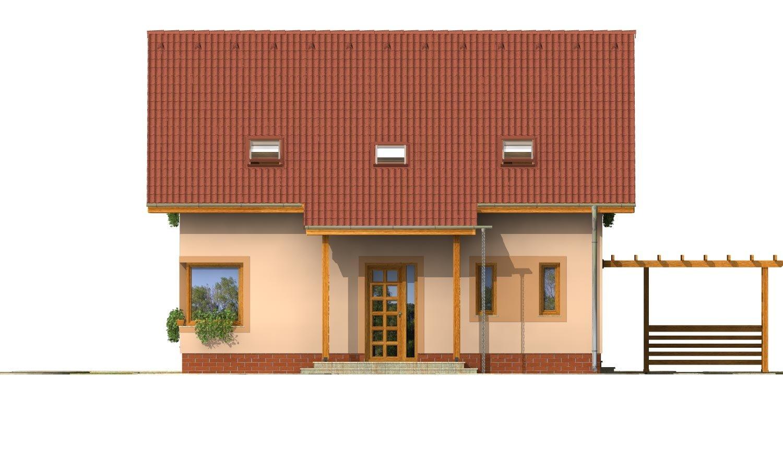 Pohľad 1. - Rodinný dom s izbou na prízemí a obytným podkrovím