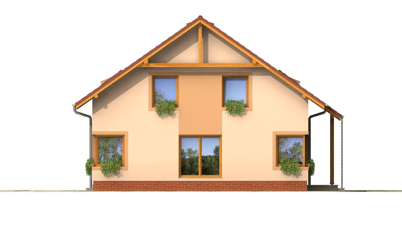 Pohľad 2. - Rodinný dom s izbou na prízemí a obytným podkrovím