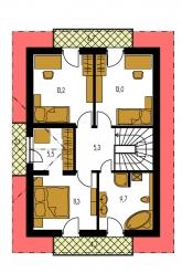 Pôdorys poschodia - KOMPAKT 37