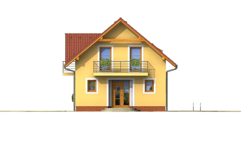 Pohľad 1. - 4-izbový dom na úzky pozemok.