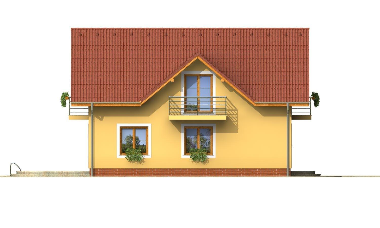 Pohľad 2. - 4-izbový dom na úzky pozemok.