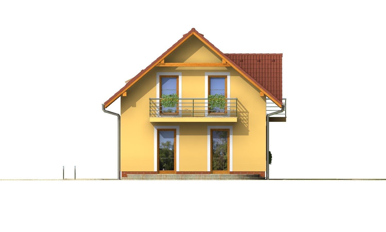 Pohľad 3. - 4-izbový dom na úzky pozemok.