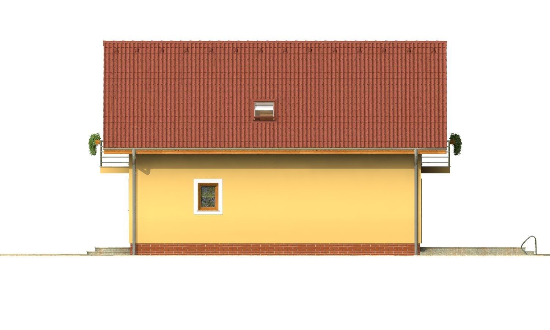 Pohľad 4. - 4-izbový dom na úzky pozemok.