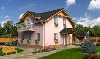 Menší 3-izbový podkrovný rodinný dom na užší pozemok, vhodný aj ako chata.