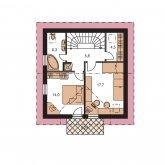 Zrkadlový obraz | Pôdorys poschodia - KOMPAKT 39
