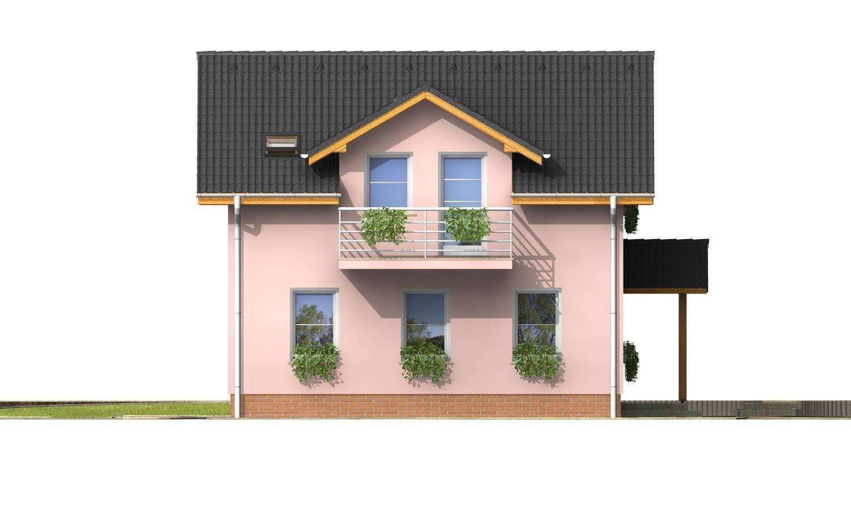 Pohľad 2. - Menší 3-izbový podkrovný rodinný dom na užší pozemok