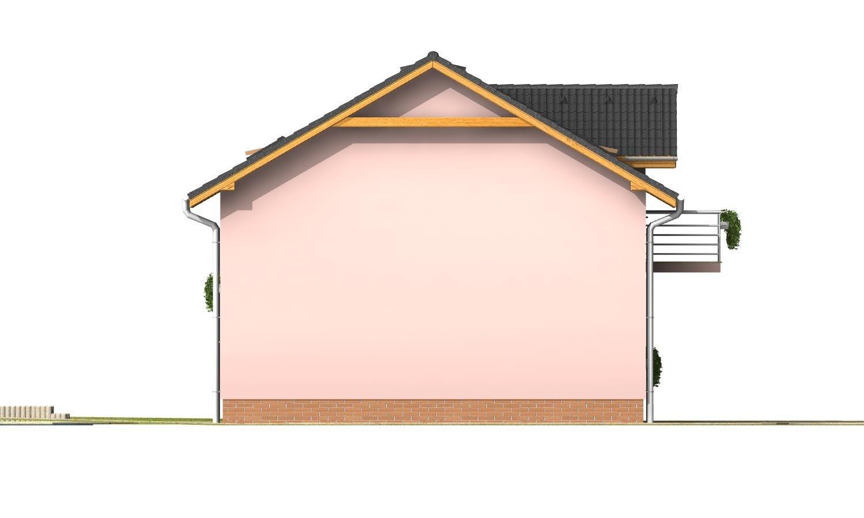 Pohľad 3. - Menší 3-izbový podkrovný rodinný dom na užší pozemok