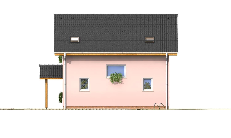 Pohľad 4. - Menší 3-izbový podkrovný rodinný dom na užší pozemok