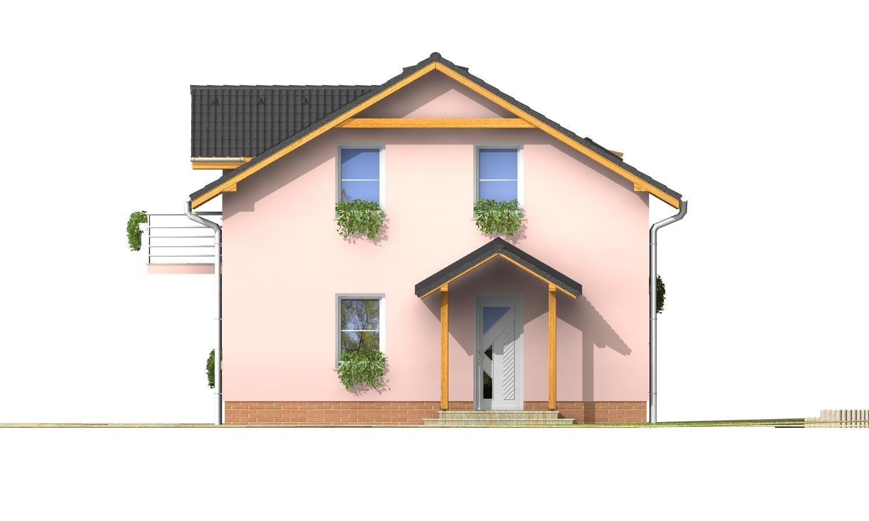 Pohľad 1. - Menší 3-izbový podkrovný rodinný dom na užší pozemok