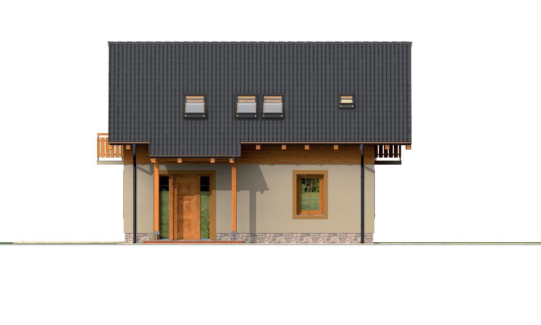 Pohľad 1. - Klasický 4-izbový podkrovný rodinný dom.