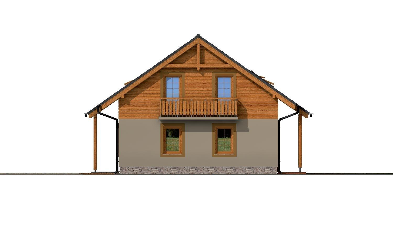Pohľad 2. - Klasický 4-izbový podkrovný rodinný dom.