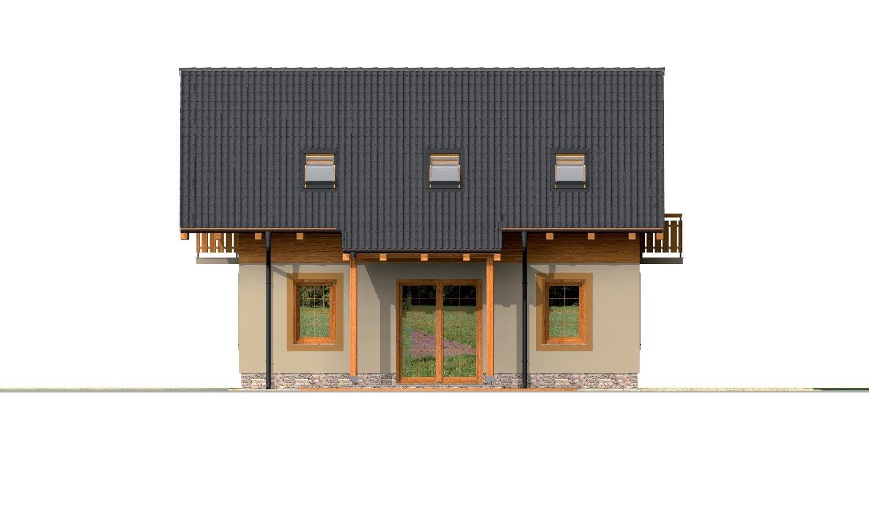 Pohľad 3. - Klasický 4-izbový podkrovný rodinný dom.