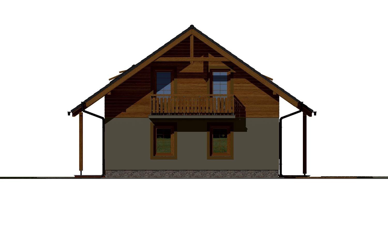 Pohľad 4. - Klasický 4-izbový podkrovný rodinný dom.