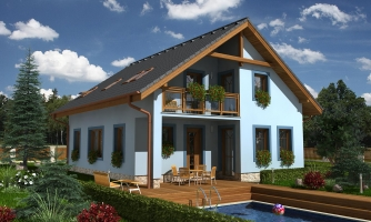 5-izbový rodinný dom s obytným podkrovím a prekrytou terasou