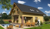 Rodinný dom na úzky pozemok s terasou