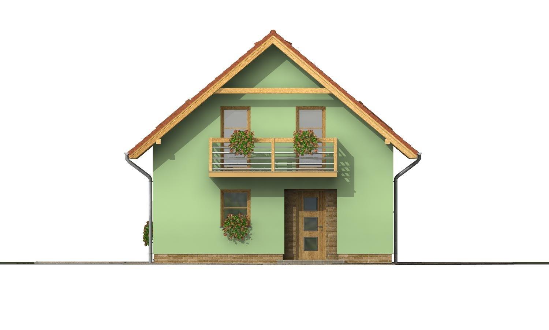 Pohľad 1. - Rodinný dom na úzky pozemok s terasou