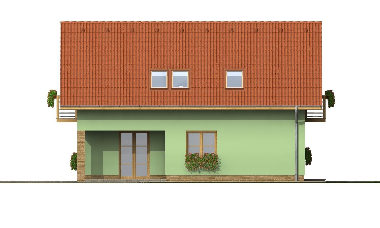 Pohľad 2. - Rodinný dom na úzky pozemok s terasou