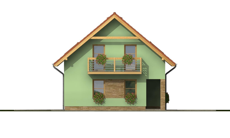 Pohľad 3. - Rodinný dom na úzky pozemok s terasou