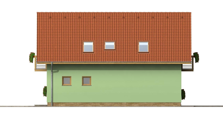 Pohľad 4. - Rodinný dom na úzky pozemok s terasou