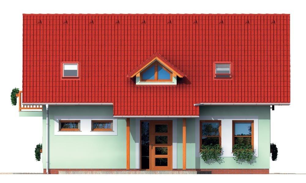 Pohľad 1. - Malý dom s 5-timi miestnosťami s izbou na prízemí