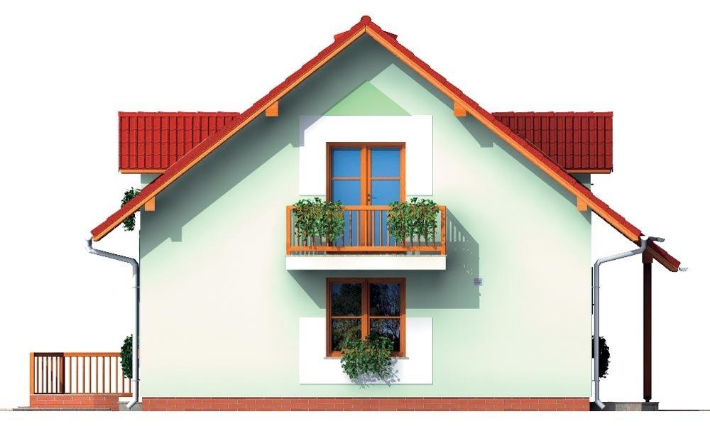 Pohľad 2. - Malý dom s 5-timi miestnosťami s izbou na prízemí