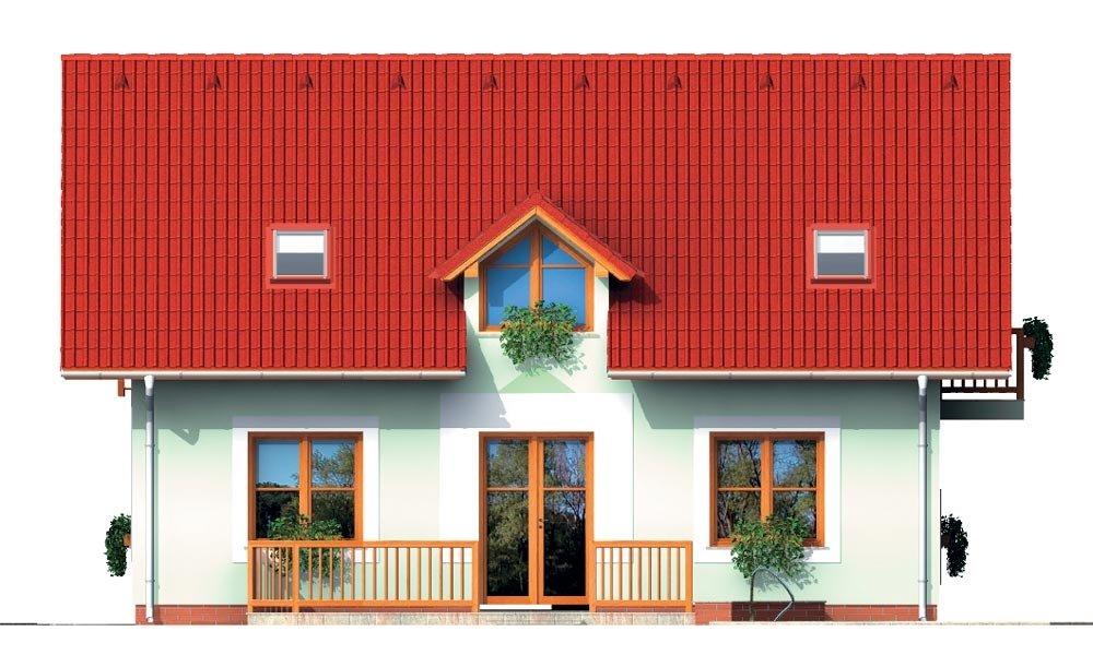 Pohľad 3. - Malý dom s 5-timi miestnosťami s izbou na prízemí
