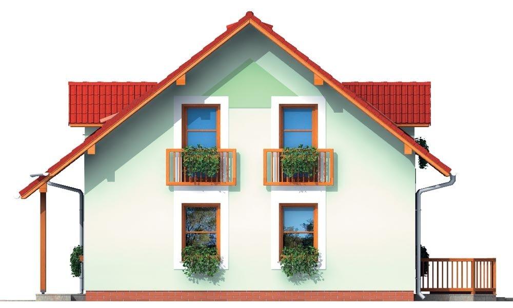 Pohľad 4. - Malý dom s 5-timi miestnosťami s izbou na prízemí